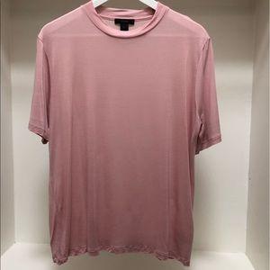J.Crew Mock Neck Tencel Lyocell Pink Tee Shirt